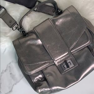 BCBGMaxAzria | Silver Satchel/Shoulder Bag